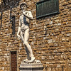 Marble replica of Michelangelo's David in Florence