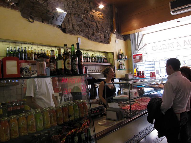 lunch, Piazza del Duomo