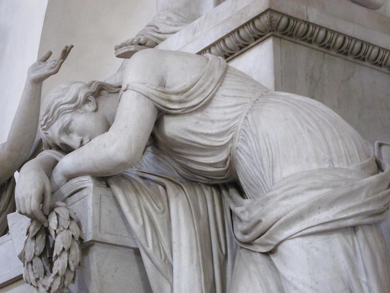 detail:  Dante Aligherio monument, Santa Croce