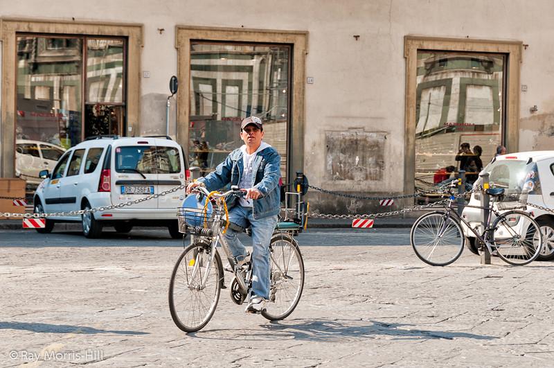 Cyclist near the Duomo