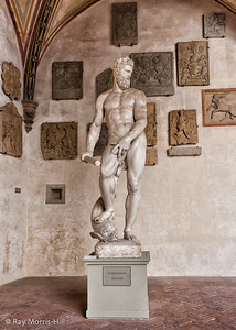 Marble Statue Of Nude Ocean By Giambologna In The Bargello