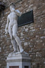 Copy of the Statue of David outside the Uffizi Gallery.