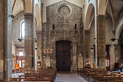 Interior of Santa Trinita church