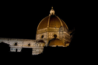 Duomo from our bedroom window at night