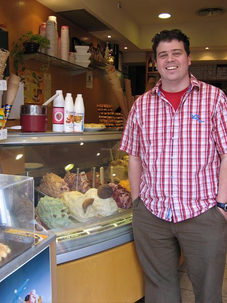 Andrew and ice cream