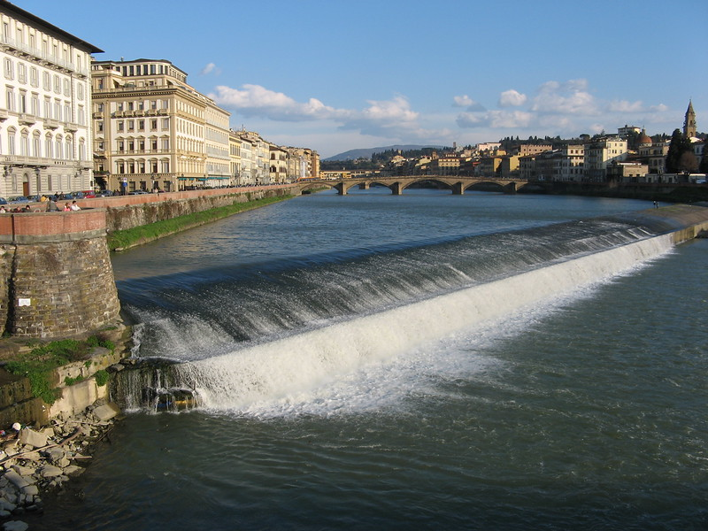 The Arno river with lost of water - must be spring!