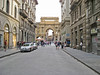 Piazza della Repubblica looking down towards the Strozzi Palace