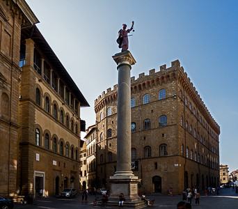 Column of Justice in Florence in central Florence