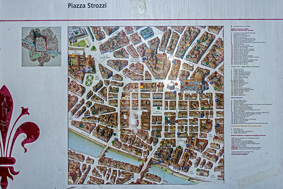 Map of Florence, the rectangle of streets in the centre is the original old walled city