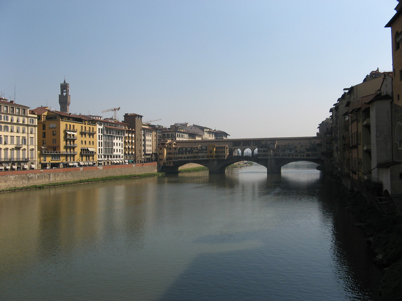 Arno and Ponte Vecchio in the morning light