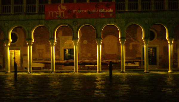 Liked the dramatic lighting of these arches on the Grand Canal.