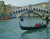 Everyone takes this shot of the Rialto Bridge, but the Japanese in the gondola seem more interested in our vaporetto.