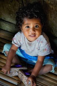 A cutie at Luba village