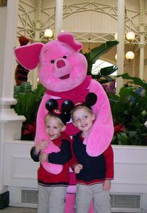 Alex & Brady with Piglet