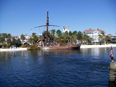 View of Yacht & Beach Club Pirate Ship