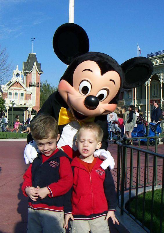 Brady & Alex with Mickey