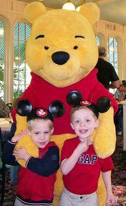 Alex & Brady with Winnie the Pooh