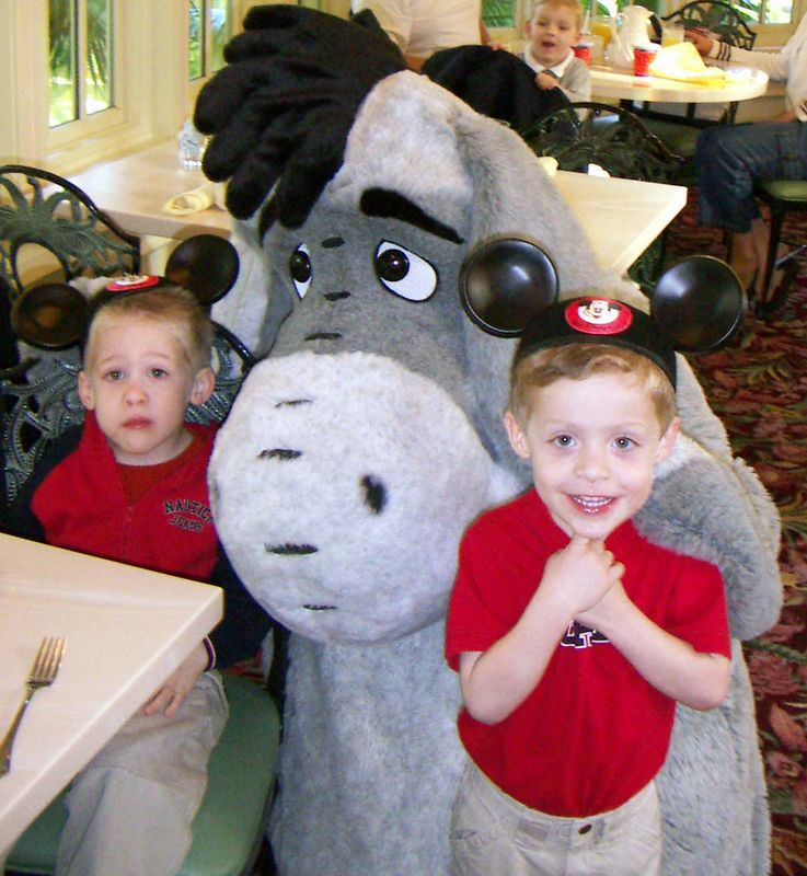 Alex & Brady with Eyore