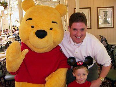 Pooh Bear with Brady and Brett