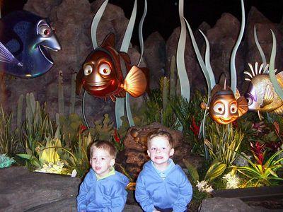 Alex & Brady with Nemo and Friends