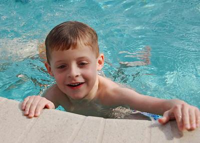 Brady in pool