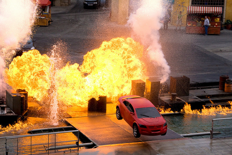 We got to see the new Lights Motors Action show at Hollywood Studios.  It was spectacular!