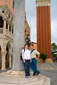 Cly & Darcie at the Italian pavillion in EPCOT