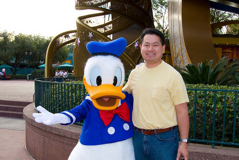 Cly and Donald at Disney Hollywood Studios