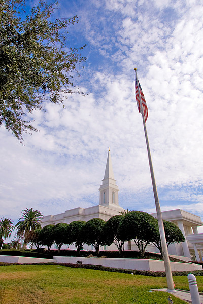 We visited the Orlando temple
