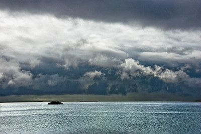 Storm Clouds Over Florida Bay – The next morning, following the afternoon of the high cirrus clouds, storm clouds had rolled in over the bay.