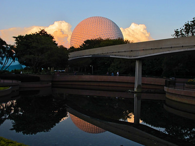 Epcot Center at sunset on 9/11/2011