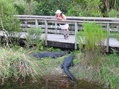 Grace and two of her closest friends on the Anhinga Trail in the Everglades.