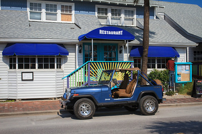 Restaurant with Matching Jeep