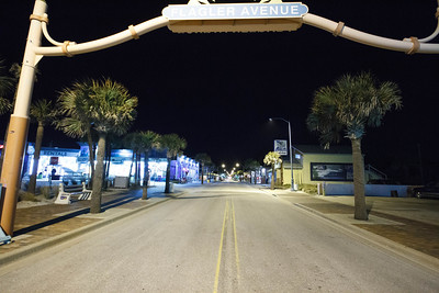 Flagler Ave at Night
