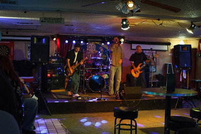 On Stage at the Om Bar