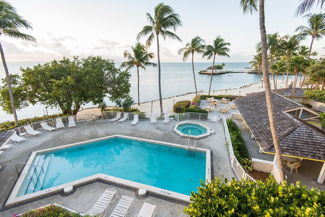 View from room at Pelican Cove Resort, Islamorada, Florida - December 2013