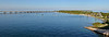 Panorama of the park and the new overseas highway bridge.