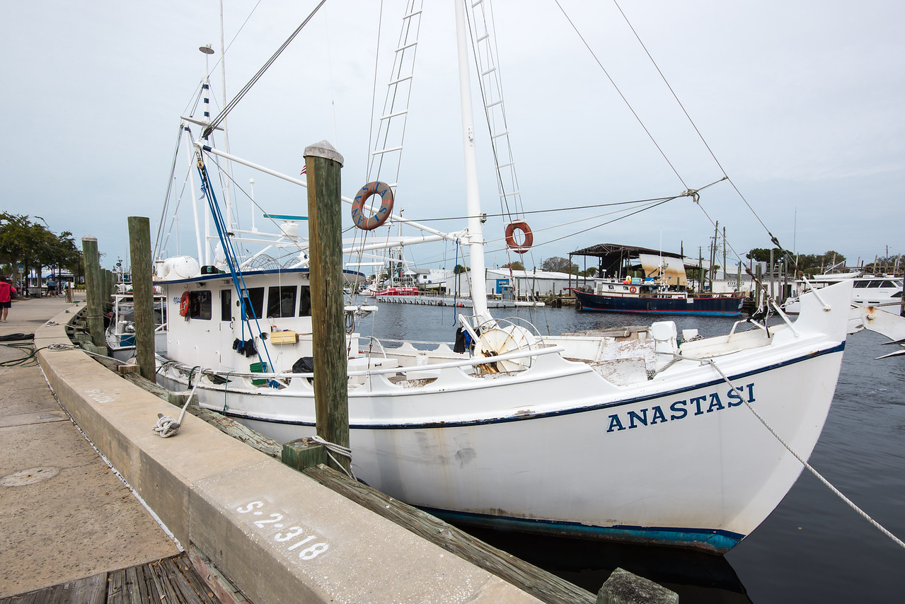 """This is the sponge boat featured in the """"Dirty Jobs"""" episode with Mike Rowe. Tarpon Springs, Florida - February 2015"""