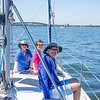 On board Frank & John's sailboat