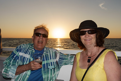 Patrick and Marie on the Sunset Cruise