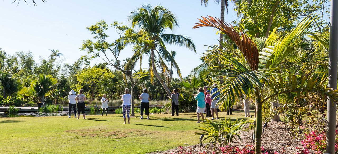Morning Tai Chi at Naples Botanical Garden, FL - January 2018