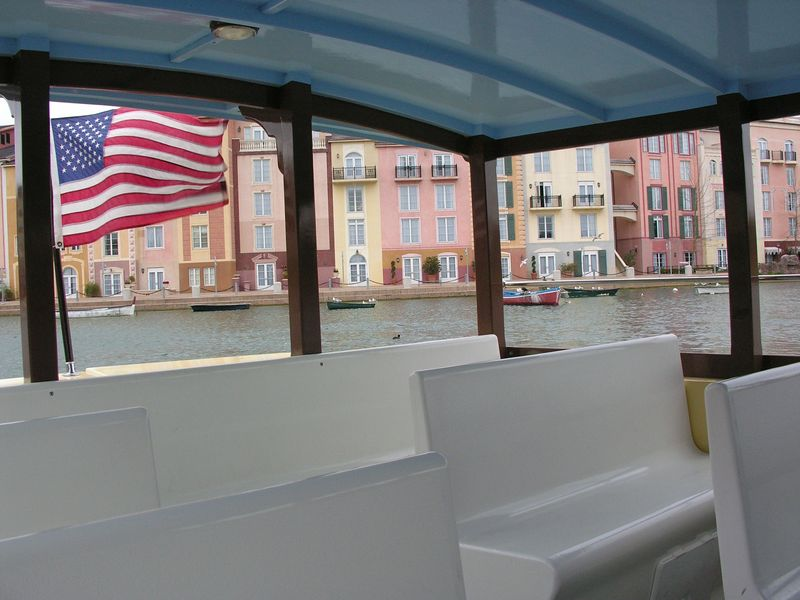 From inside the water taxi