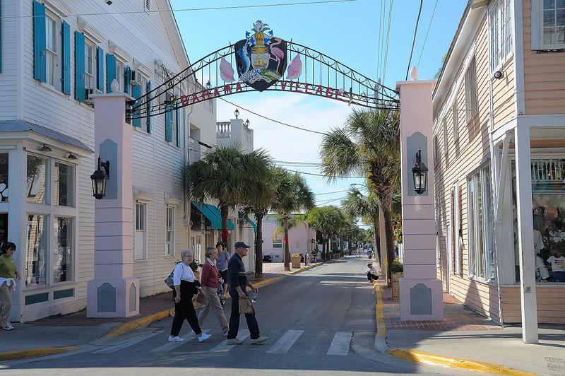 Bahama Village off Duval Street, leads to a Bahamanian neighborhood.