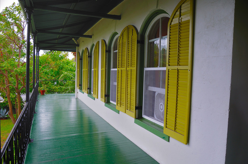 The Hemmingway House.  It was raining that day so I couldn't get any good outdoor shots of the building but it is quite a stunning place.