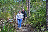 Phil and Judy navigating the thatch palms at the Key Deer Refuge.   We only saw one Key Deer in the thick palms that day but we returned again on the way down to Key West and had better luck.