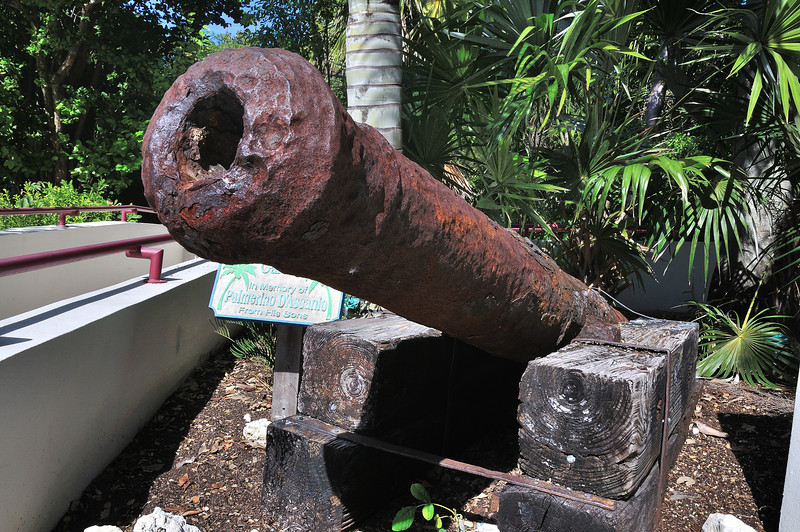 Old cannon at Crane Hammock
