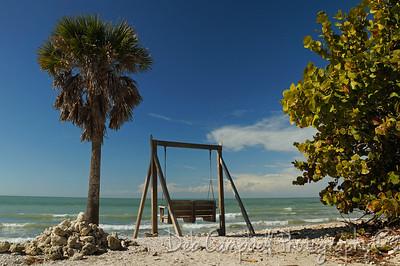 View along the beach at Honeymoon Island State Park Dunedin, Florida