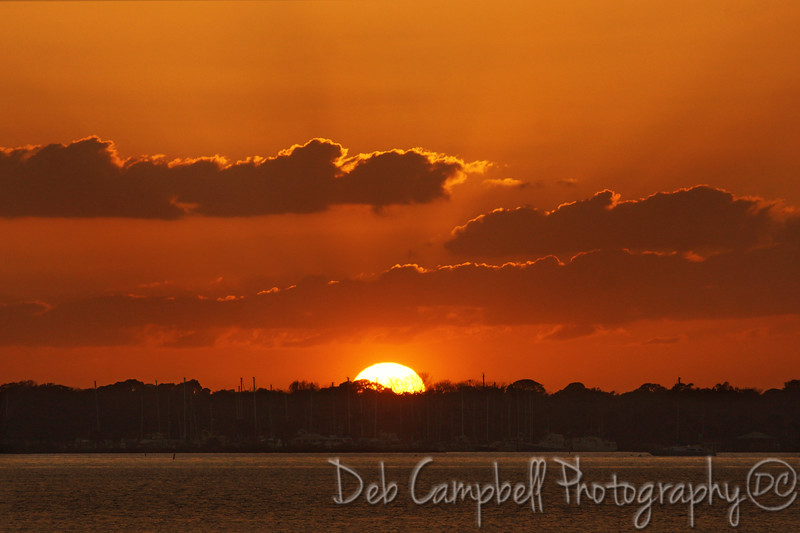 Sunset near  Merritt Island Wildlife Refuge Titusville, Florida