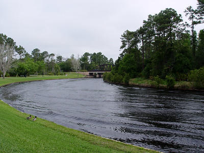 View of the Sassagoula River from Port Orleans Resort - French Quarter