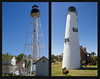 I visited several lighthouses, (Although, I'm not an  aficionado, as a woman asked me at the first stop.)  one of which was the Port St. Joe lighthouse on the left.  It was moved to a park in town because the sand was washing away from under it on the original site. The one on the right, which my sibs climbed and I didn't, is the St. George Island lighthouse near Apalachicola, FL.  We had lunch in town and did a little shopping.  Yes, there was a yarn/book shop there.  A heavenly little place!  April, 2016.